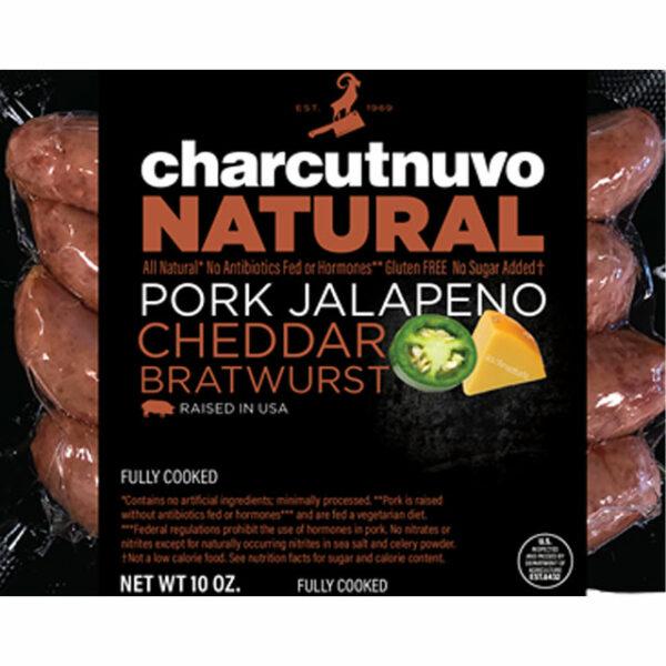 Smoked Pork Jalapeño Cheddar Bratwurst